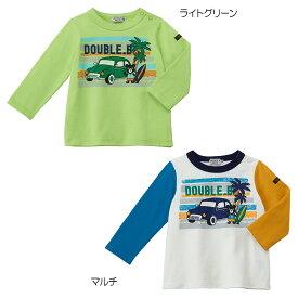 【アウトレット】ミキハウス ダブルビー mikihouse Tシャツ(80cm・90cm・100cm) 男の子 長そで ボーイズ こども ベビー服