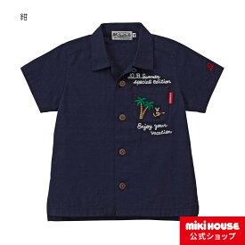 ミキハウス ダブルビー mikihouse シャツ(80cm・90cm・100cm) ベビー服 キッズ 子供服 こども 子供 女の子 男の子 半袖
