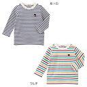 公式ショップ【ダブルB】Everyday Double Bボーダー長袖Tシャツ(70cm-150cm)
