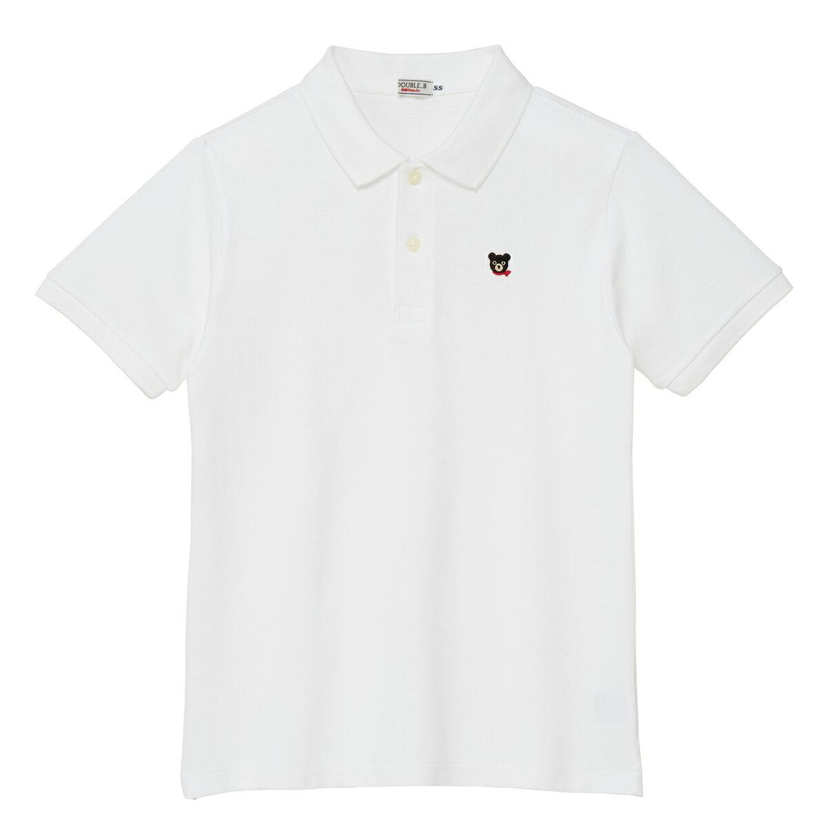 ミキハウス ダブルビー mikihouse Everyday Double_B 半袖ポロシャツ大人用〈SS-L(150cm-185cm)〉