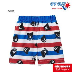 ミキハウス ダブルビー mikihouse 5分丈サーフパンツ(水着)(100cm・110cm) キッズ 子供 こども 水着 男の子 UVカット スイムパンツ
