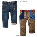 公式ショップ【セール】【ダブルB】裾裏星ライン★☆ジーンズ(100cm・110cm)