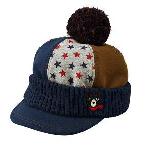 ミキハウス ダブルビー mikihouse 裏毛パイルのオスロキャップ(帽子)〈SS-L(46cm-54cm)〉
