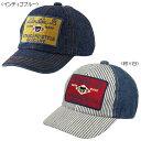 【ダブルB】ワッペン付きデニムキャップ(帽子)〈SS-LL(48cm-56cm)〉