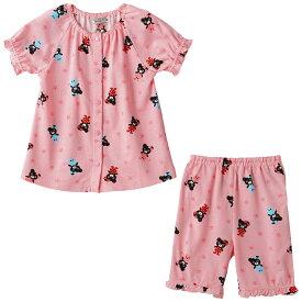 【アウトレット】ミキハウス ダブルビー mikihouse 星とB子ちゃんプリント半袖パジャマ(80cm-130cm) 女の子