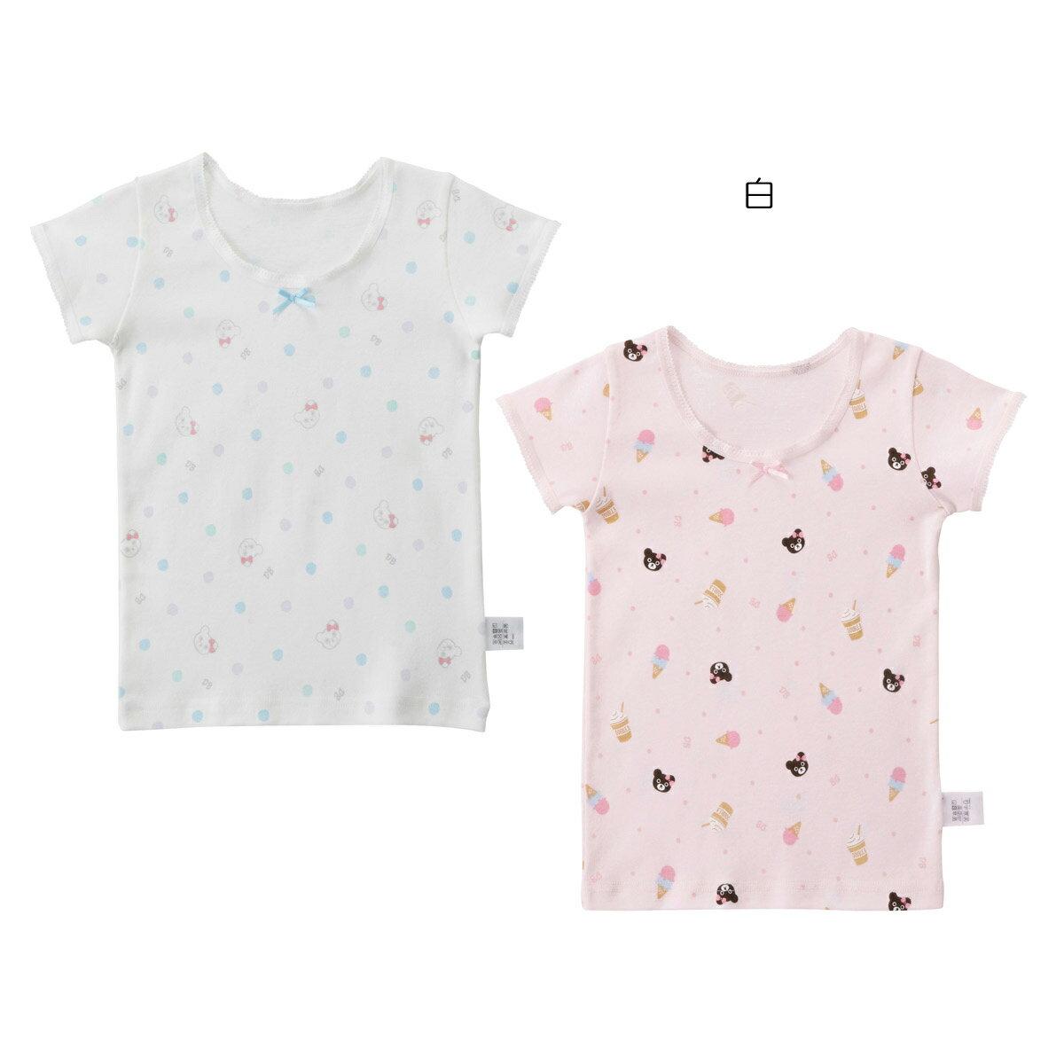 ミキハウス ダブルビー mikihouse ドット&アイス柄Tシャツセット(80cm-130cm)