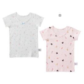 ミキハウス ダブルビー mikihouse ドット&アイス柄Tシャツセット(80cm-130cm) 女の子 半そで かわいい こども 子供服