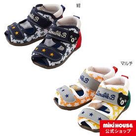 ミキハウス ダブルビー mikihouse ダブルラッセルベビーサンダル(12.5cm-15cm) キッズ 子供 靴 男の子 スポーティー