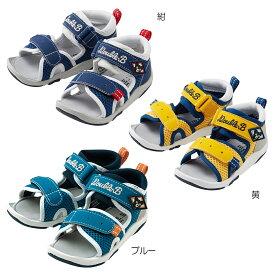 ミキハウス ダブルビー mikihouse つま先ガードベビーサンダル(13.5cm-18cm) キッズ 子供 靴 男の子 スポーティー