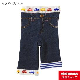 ミキハウス ホットビスケッツ mikihouse ドライブビーンズくん 8分丈スパッツ(80cm・90cm・100cm)