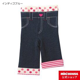 ミキハウス ホットビスケッツ mikihouse ドットハート 8分丈スパッツ(80cm・90cm・100cm) ベビー服 キッズ 子供服 こども 女の子 ボトムス パンツ タイツ