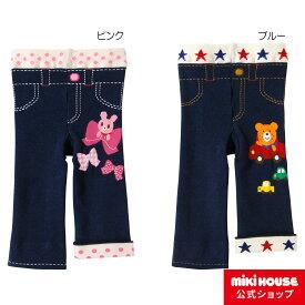 ミキハウス ホットビスケッツ mikihouse ドライブビーンズ&リボンキャビット ぽかぽか素材のスパッツ(80cm・90cm・100cm) 男の子 女の子 子供 子供服 キッズ かわいい 暖かい ボトムス タイツ パンツ