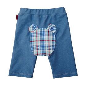 ミキハウス ホットビスケッツ mikihouse おしりがチェックくま☆8分丈ベビーパンツ(70cm・80cm・90cm) ベビー服 子供服 赤ちゃん 女の子 男の子 ボトムス