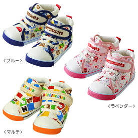 【アウトレット】ミキハウス ホットビスケッツ mikihouse マルチチェック&車&小花 セカンドベビーシューズ(13cm-14.5cm) ベビー 赤ちゃん 男の子 女の子 靴 プレゼント 出産祝い