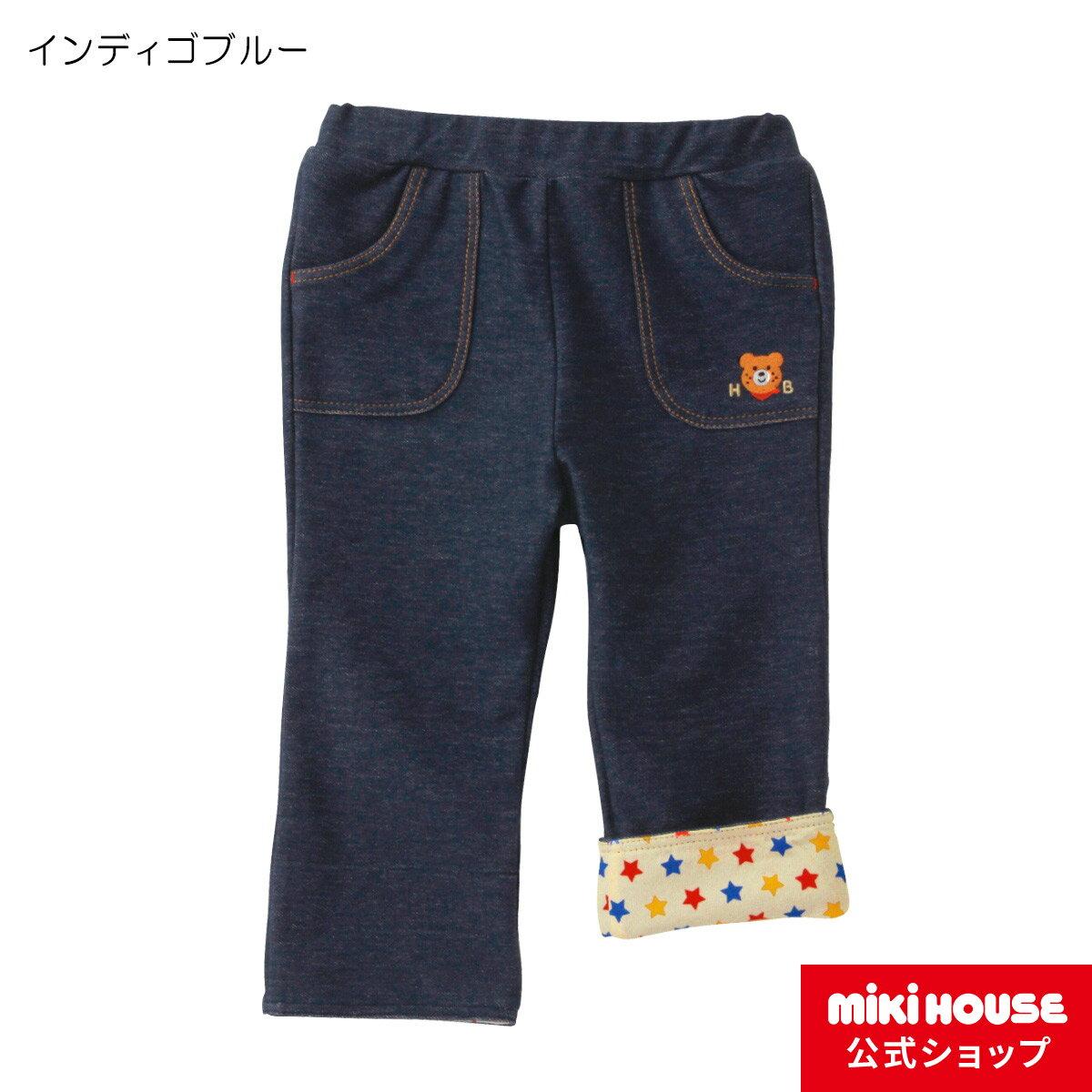ミキハウス ホットビスケッツ mikihouse ビーンズくん ストレッチニットデニムパンツ(100cm・110cm)