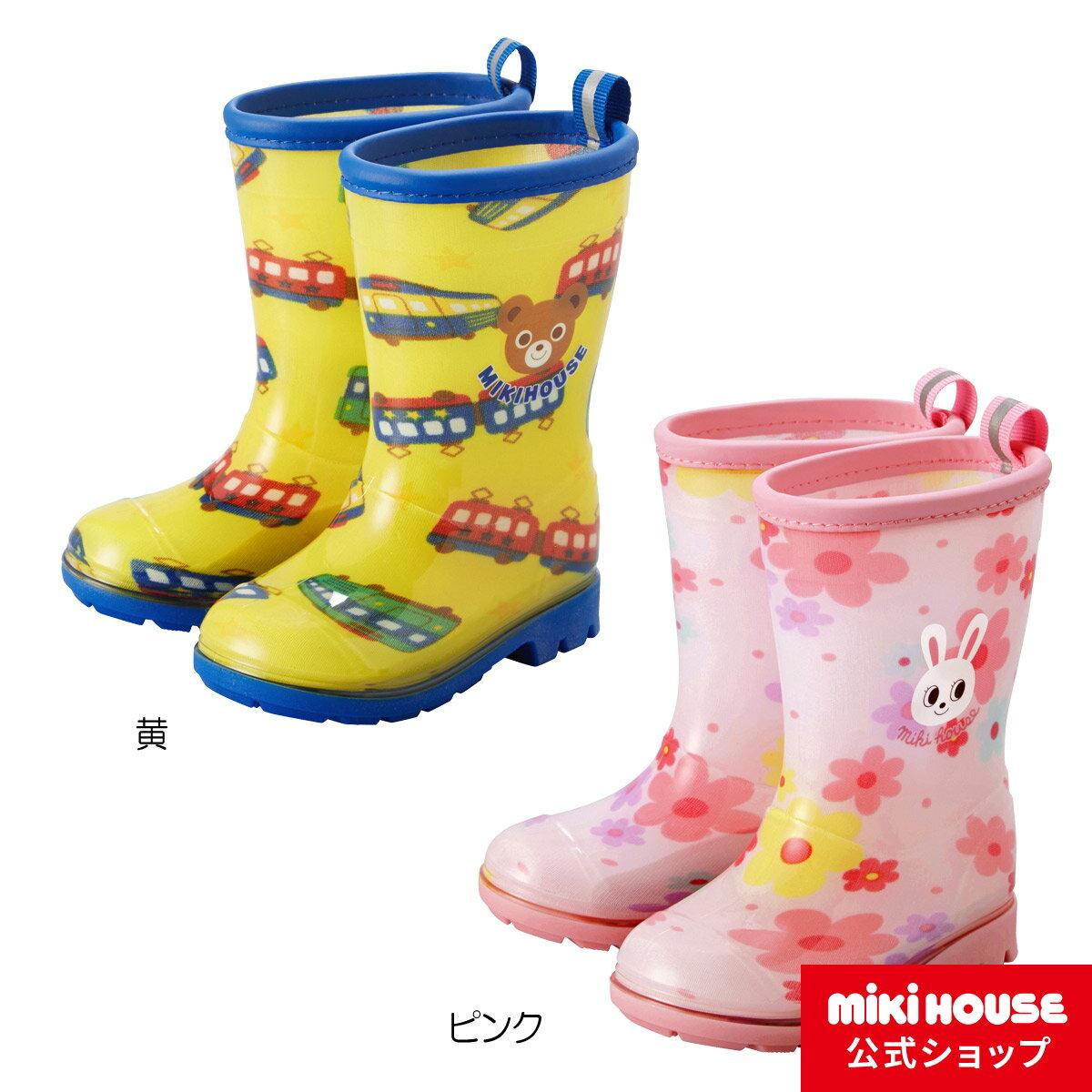 【全品10倍ポイント(9/21-9/26)】ミキハウス mikihouse プッチー&うさこ☆レインブーツ(長靴)(13cm-17cm)