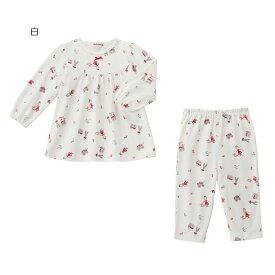 ミキハウス mikihouse リーナちゃん 天竺素材の長袖パジャマ(80cm-140cm) ベビー キッズ 赤ちゃん 子供 女の子