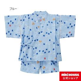 ミキハウス mikihouse プッチー 千鳥柄甚平スーツ(100cm・110cm) 男の子 甚平 こども 子供服