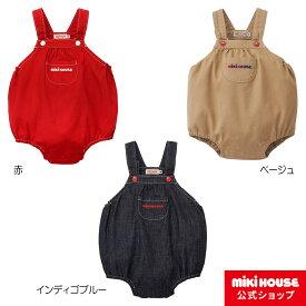 ミキハウス mikihouse デニムロンパース〈S-M(70cm-90cm)〉 ベビー服 子供服 オールインワン 女の子 男の子 プレゼント ギフト