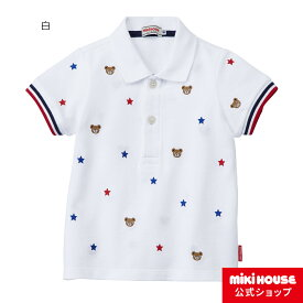 ミキハウス mikihouse プッチー プチ刺繍入り半袖ポロシャツ(110cm・120cm・130cm) キッズ 子供服 男の子