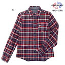 ミキハウス mikihouse リバーシブルチェックシャツ(大人用)〈S(155cm-165cm)〉