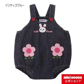 ミキハウス mikihouse ロンパース〈S-M(70cm-90cm)〉 ベビー服 子供服 オールインワン 女の子 プレゼント ギフト