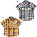 公式ショップ【セール】【ミキハウス】爽やかチェック☆半袖シャツ(120cm・130cm)