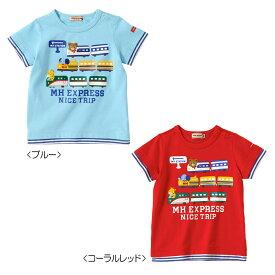 【アウトレット】ミキハウス mikihouse MHエクスプレス☆重ね着風半袖Tシャツ(70cm・80cm・90cm) 男の子 半そで ボーイズ こども ベビー服 ss202106_3a