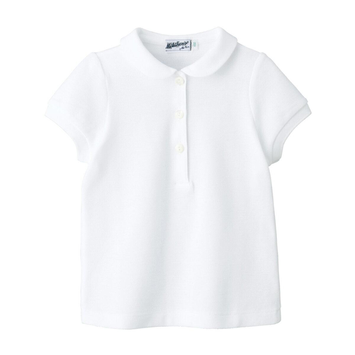 ミキハウス mikihouse 【面接】カノコ素材の半袖ポロシャツ(女の子用)(120cm・130cm)