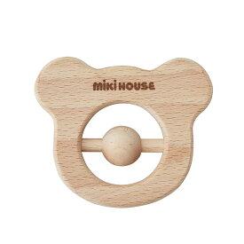 ミキハウス mikihouse 木製ラトル(くま型) ベビー 赤ちゃん おもちゃ 日本製 ギフト お祝い プレゼント