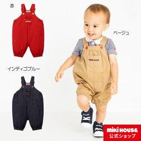 ミキハウス mikihouse 6分丈オーバーオール〈S-M(70cm-90cm)〉 女の子 男の子 ベビー キッズ 子供服 プレゼント ギフト