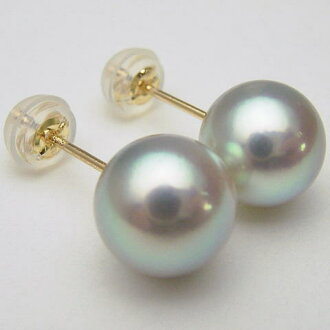 Pt900/K18/K14WG pearl oyster pearl pierced earrings (earrings charm) (gray system) ewp-5977 (I OK Ako and pearl sum ball Ako and the real pearl pearl pierced earrings pearl oyster real pearl real pearl pearl direct connection 18-karat gold platinum 900 p