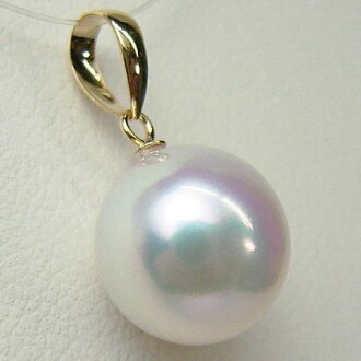 K18/K14WG pearl oyster pearl pendant top pwq-7011 (I go over Ako and real pearl pendant Ako and pearl pendant real pearl Shima, Ise thing pearl pendant top 18-karat gold present Mother's Day)
