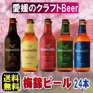 愛媛の地ビール 梅錦ビール24本送料無料【smtb-KD】クール便でお届けクラフトビール【楽ギフ_のし】