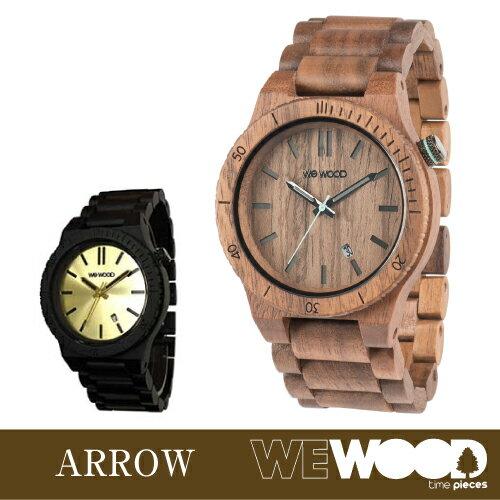 【エントリーで全品ポイント10倍! 6/14 20時〜】ウィーウッド 正規品 腕時計 ARROW 全2種 (ナッツ / ブラックゴールド)