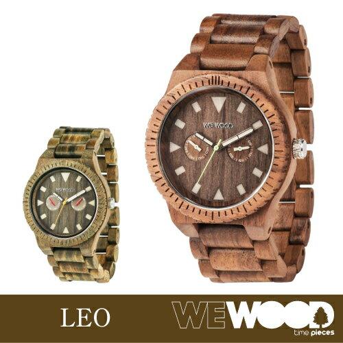 【エントリーで全品ポイント10倍! 6/14 20時〜】ウィーウッド 正規品 腕時計 LEO 全2種 (ナッツ / アーミー)