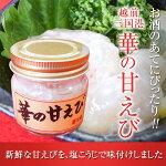 華の甘えび(福井県産)三国港で獲れたての甘エビ丸ごと塩糀漬け100g