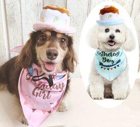 ペット お誕生日 バースデー帽子とスタイセット