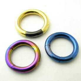 ボディピアス メタリックカラー サークルリングcir-ring-2