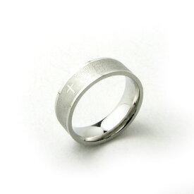 指輪 文字がびっしり 神聖な雰囲気のシンプルステンレスリングKR406【リング】