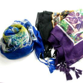 ストール ショール タッセル付きフラワーモチーフスカーフ SC6 スカーフ 防寒小物 巻物 otonaplus