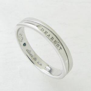 指輪 【刻印無料】close to me 幸せのクローバー ブルーダイヤモンド シルバーリングSR14-013【プレゼント】【ペアリング】