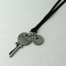 ネックレス レザーネックレス アンティークカラー キー×鍵穴 kn17077-17079【ペンダント】【ネックレス】