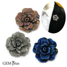 ブローチ バラ 薔薇 花 レディース メンズ ラペルピン ピンズ KS47011【結婚式】【GEM plus】