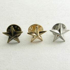 ラペルピン 小サイズ ピンブローチ ブローチ 星 スター ks27008 【メンズ】【結婚式】【レディース】