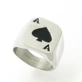指輪 ステンレスリング スペード エーストランプ 19号 KR39002【リング】【カード】