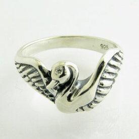 DAgDART ダグダート:PENNY BLACK ペニーブラック白鳥 スワンシルバーリングキュービックジルコニア DR-328【指輪】
