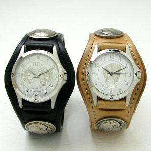 KC,s腕時計(ケーシーズ)牛革 カウハイド ペアウォッチ 3コンチョレザーウォッチ KSR501p【ケイシイズ】