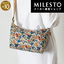 【milesto】【安心の公式ショップ】リバティプリント ショルダーバッグS【hopping marche】リュック/ミレスト MILESTO/ホッピング マルシェ/花柄【直営】【送料無料】