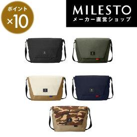 【milesto】【安心の公式ショップ】メッセンジャーバッグ L【Hutte】/ミレスト/MILESTO/ヒュッテ/ショルダーバッグ 【送料無料】【直営】